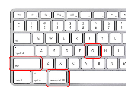 gå til mappe på mac