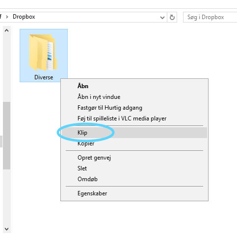 Kopier filer og mapper på Windows