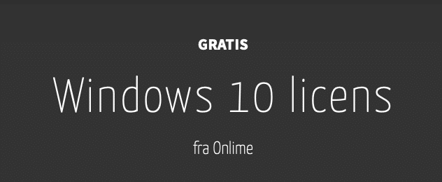 "Featured image for ""Gratis Windows 10 nøgle"""